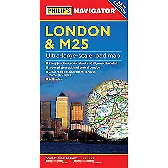 Philip's London and M25 Navigator Road Map (Paperback)