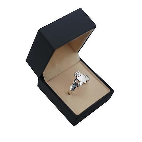 Silver 22x14mm Claddagh Ring