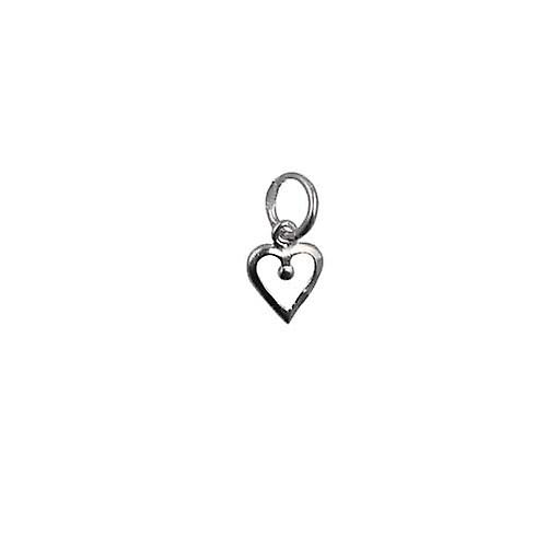 Silver 8x8mm heart symbol of charity Pendant or Charm