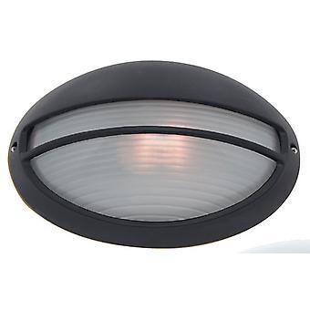 Parete esterna ovale nera plafoniere - Searchlight 5544BK