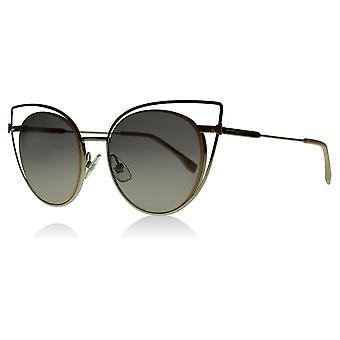 Fendi FF0176/S 010EU Palladium FF0176/S Cats Eyes Sunglasses Lens Category 2 Size 53mm