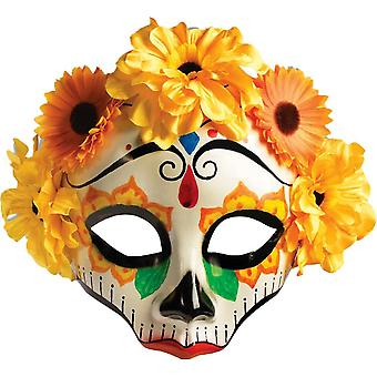Day Of Dead Flowered Mask