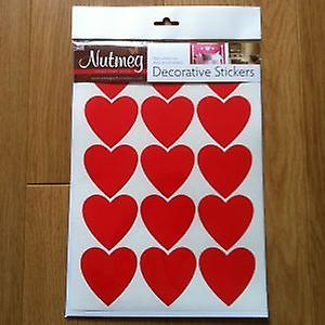 HEARTS x 15 62mm  DECORATIVE STICKERS