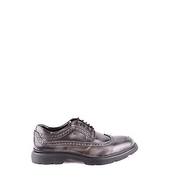 Hogan Grey Leather Lace-up Shoes