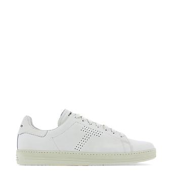 Tom Ford White Leather Sneakers