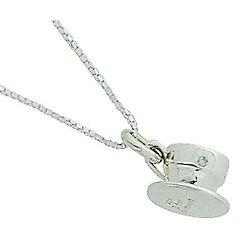 D For Diamond Girls Sterling Silver Tea Cup Charm Pendant On 14 Inch Chain
