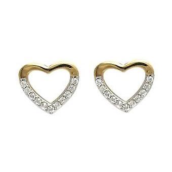 Ah! Smycken hjärta kontur örhängen handenhet med kristaller från Swarovski