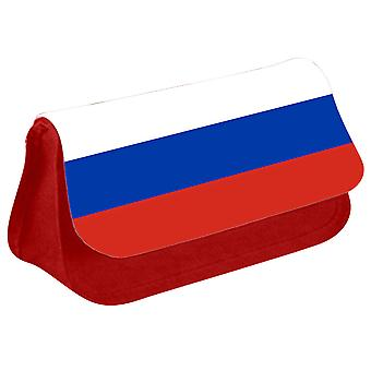Russia Flag Printed Design Pencil Case for Stationary/Cosmetic - 0144 (Red) by i-Tronixs