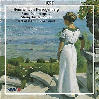 H. Von Herzogenberg - Heinrich Von Herzogenberg: Piano Quintet, Op. 17; String Quartet, Op. 63 [CD] USA import