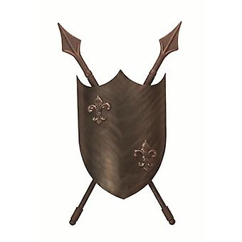 Medieval Styled Burnished Bronze Double Wall Light