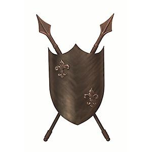 Elstead CRUSADER W/L Crusader Medieval Styled Burnished Bronze Double Wall Light