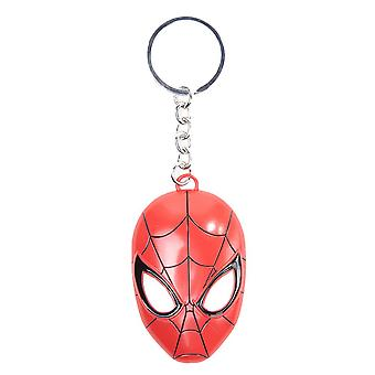 Spider-Man Mask Metal Keyring