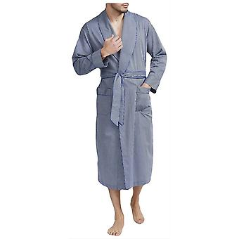 British Boxers Minister Stripe Robe - Navy/Silver
