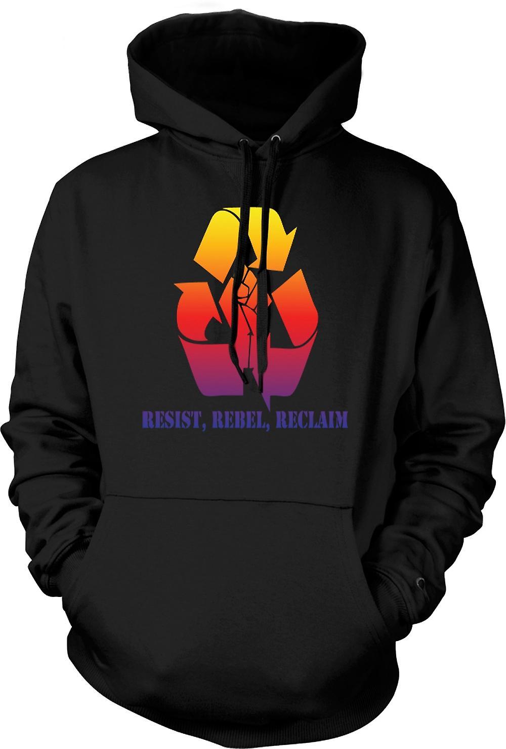 Para hombre con capucha - resiste rebelde Reclaim