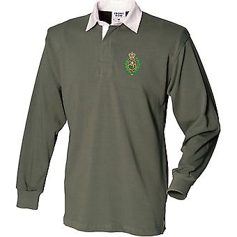 Royal Regiment Of Fusiliers Crest - Licensed British Army Embroidered Long Sleeve Rugby Shirt