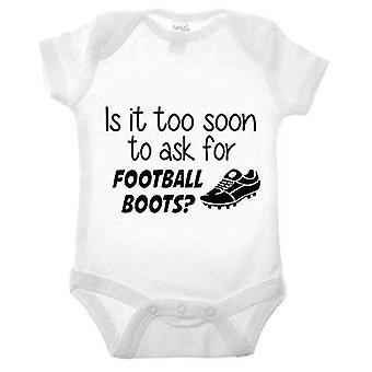 Is it too soon to ask for football boots short sleeve babygrow