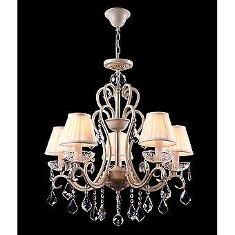 Maytoni Lighting Triumph Elegant Chandelier, Cream Gold