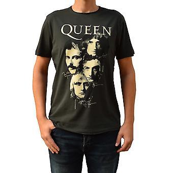 Amplified Queen Autographs Charcoal Crew Neck T-Shirt L
