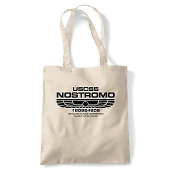 USCSS Nostromo buitenaardse film geïnspireerd Tote herbruikbare tas