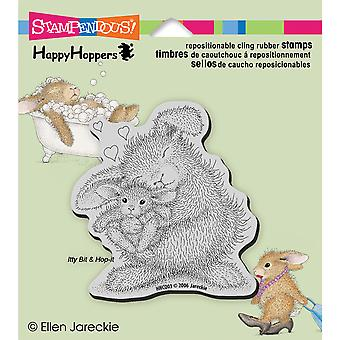 Stampendous Happyhopper Cling Stamp Bunny Luv Hhcq03