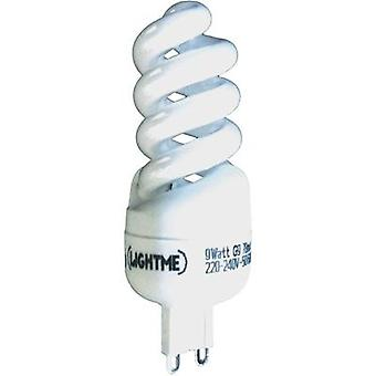 Energy-saving bulb 92 mm LightMe 230 V G9 9 W Warm white EEC: A Spiral shape Content 1 pc(s)