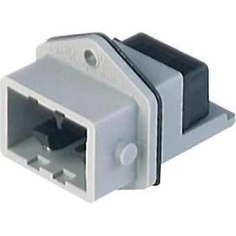 Mains connector Plug, vertical mount Total number of pins: 5 + PE 6 A Grey Hirschmann STASEI 5 1 pc(s)