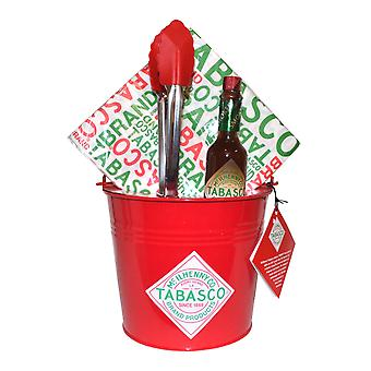 Tabasco Chicken Wings Bucket Set Chipotle Sauce, Bucket, Tongs, Napkins
