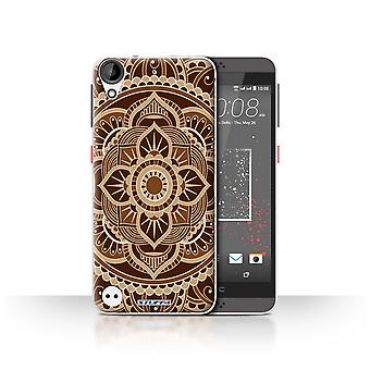 STUFF4 Case/Cover for HTC Desire 630/Floral/Sepia/Mandala Art