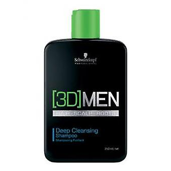 Schwarzkopf Professional Deep Cleansing Shampoo 3Dmen (Man , Hair Care , Shampoos)