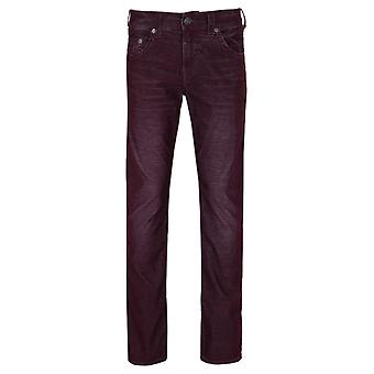 True Religion Geno Washed Plum Relaxed Slim Corduroy Jeans