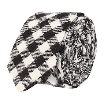 Andrews & co. narrow tie Club tie Plaid black white
