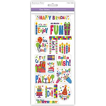 MultiCraft Classic Theme Clear Stickers-Birthday Fun SS497M