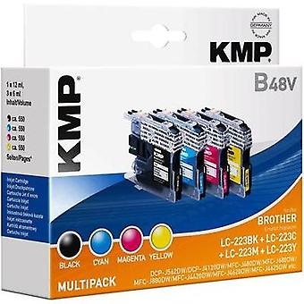 KMP Ink replaced Brother LC-223 Compatible Set Bla