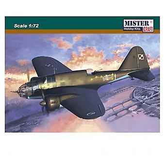 Mister håndværk Model Kit - PZL-37A Los 1 fly - 1: 72 skala - D-06 - ny