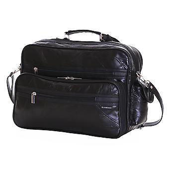 Slimbridge Kamen Leather Travel Bag, Black