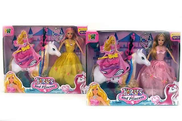 Horse and Princess Doll Set With Accessories Girls Play Toys