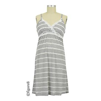 Belabumbum Heather Stripes Maternity & Nursing Chemise