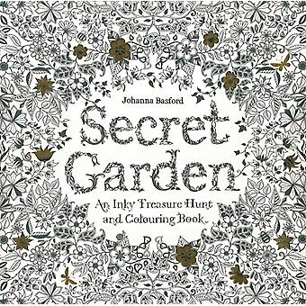 Secret Garden: An Inky Treasure Hunt and Colouring Book (Paperback) by Basford Johanna