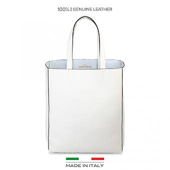 Made in Italy White Shopping bag AMANDA Woman spring/summer