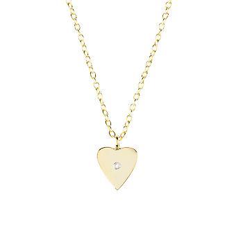 Heart and white topaz necklace
