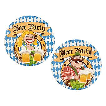 Set Of 10 Oktoberfest Beer Drinking Party Coaster Mats