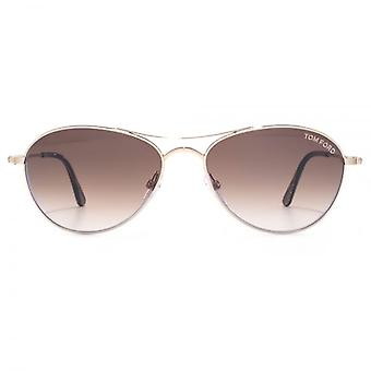 Tom Ford Oliver Sunglasses In Shiny Rose Gold
