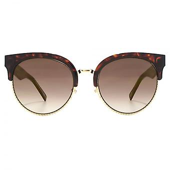 Marc Jacobs Metall Twist Clubmaster Sonnenbrille In dunklen Havanna