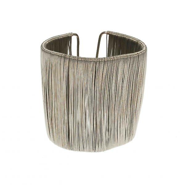 W.A.T Pewter Wire Wrap Cuff