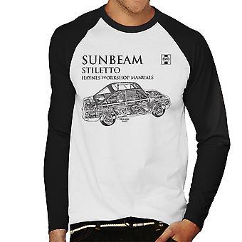 Haynes Workshop Manual 0022 Sunbeam Stiletto svarta mäns Baseball Långärmad T-Shirt