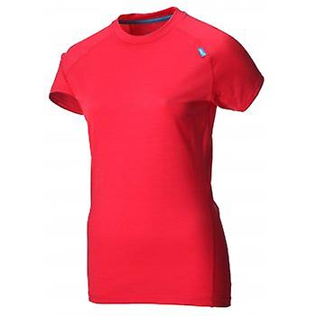 Basis-Elite 95 Short Sleeve Merino Base Layer Berberitze/Türkis-Damen