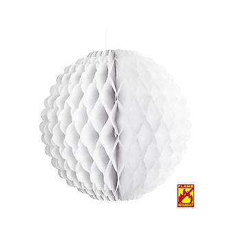 Party favors  White honeycomb globe 32 cm - flame retardant