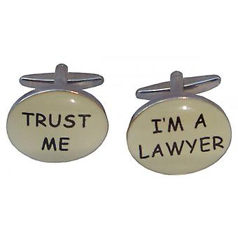 Bassin and Brown Trust Me Im A Lawyer Cufflinks - Silver
