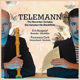 Erik Bosgraaf & Francesco Corti - Telemann: Importación de los E.e.u.u. Recorder Sonatas [CD]