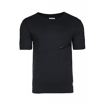JUNK YARD Laban Pocket Shirt mens black T-Shirt with Pocket